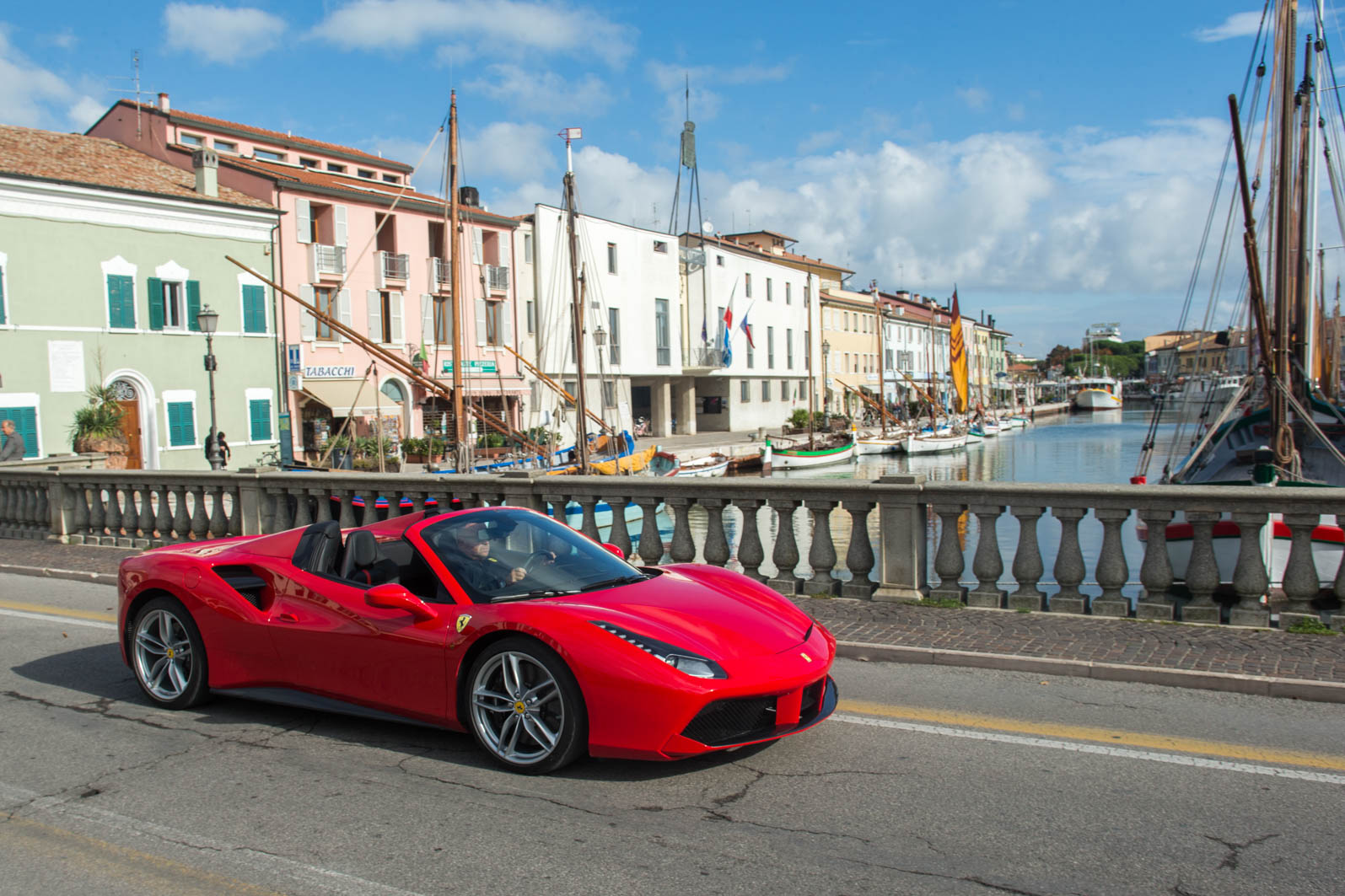 The Prancing Horse Debuts In Milan Ferarri Lists With The Ticker